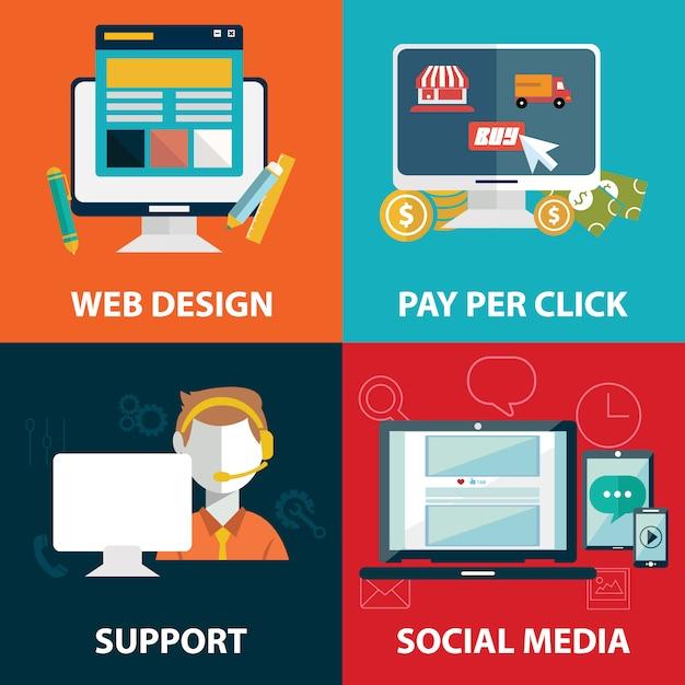 Web elements design Free Vector