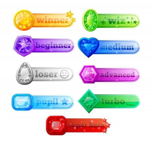 Web game assets Free Vector