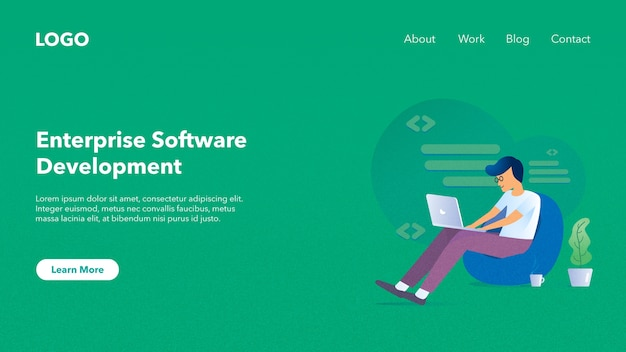 Web Header Banner For Software Company Website Premium Vector