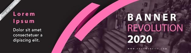 Banner di intestazione web Vettore gratuito
