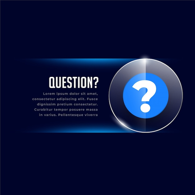 Web helo and support template with question mark Free Vector