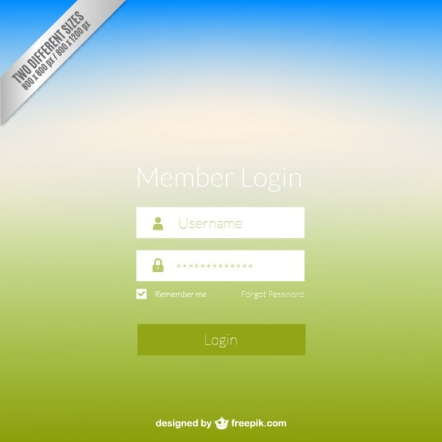 Web login panel vector free download web login panel free vector pronofoot35fo Choice Image