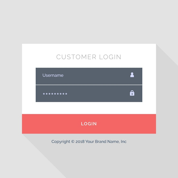 web login template with red buttons vector free download. Black Bedroom Furniture Sets. Home Design Ideas