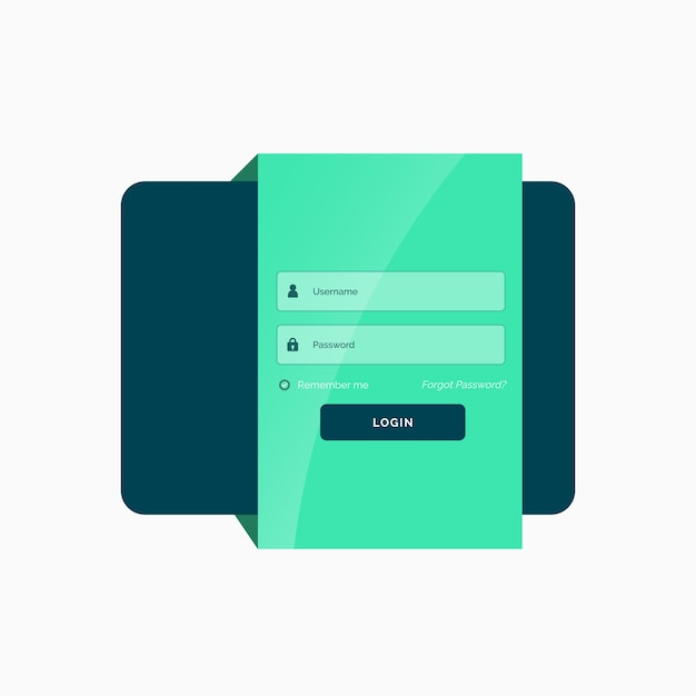 Login templates for website