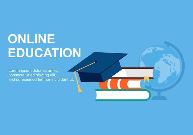 Web page design templates for online training Premium Vector
