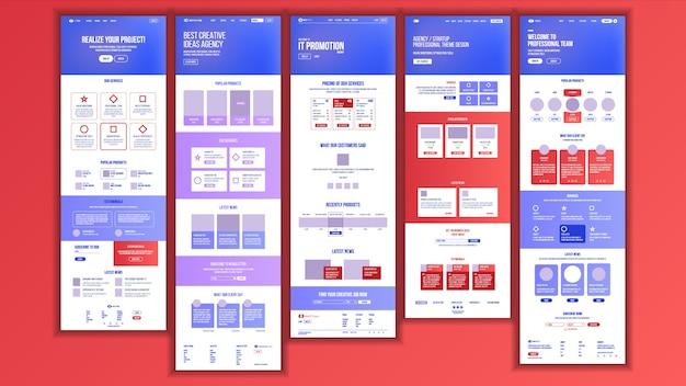 Web page design Premium Vector