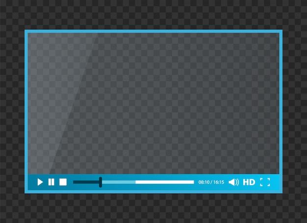Web player for video Premium Vector