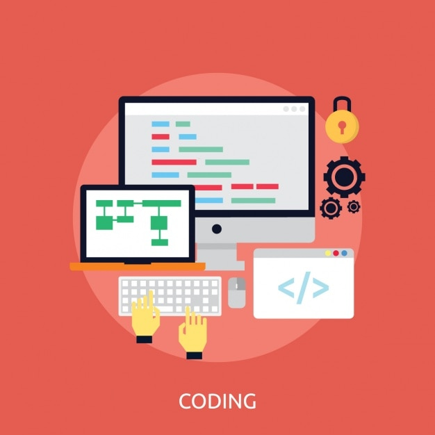 Web Programming Background Vector Free Download