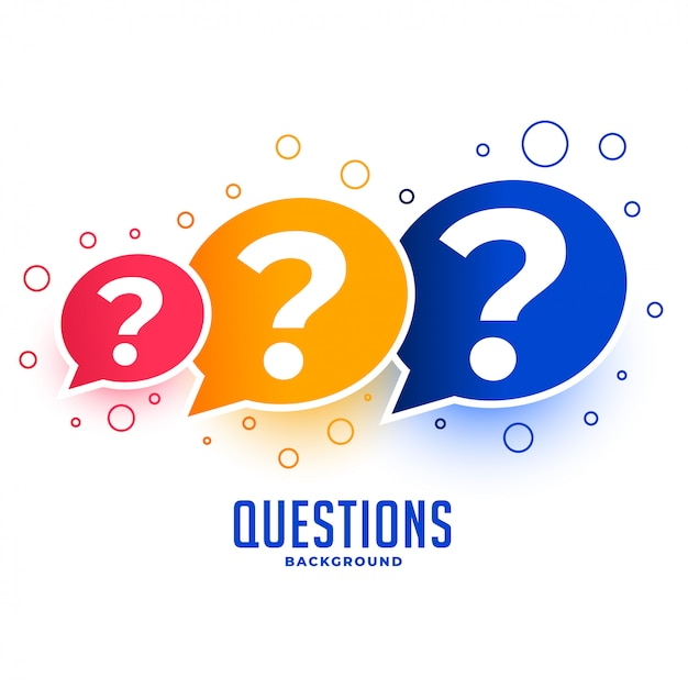 Web questions help and support page design Free Vector