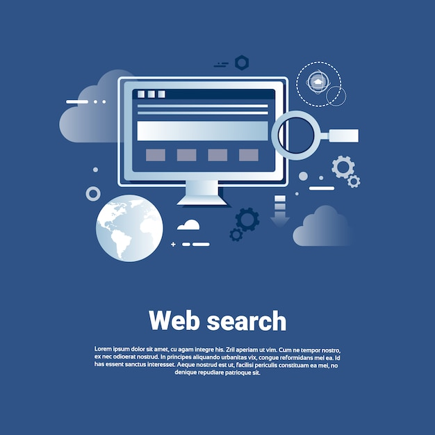 Web search template internet banner with copy space Premium Vector