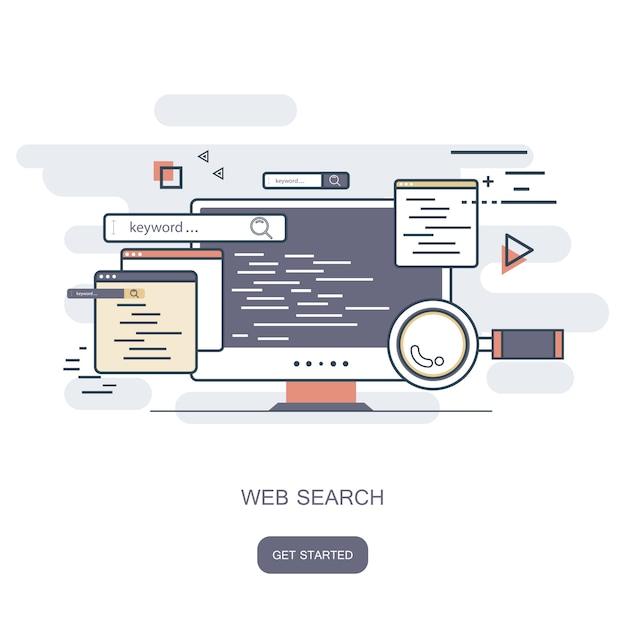 Web search Premium Vector