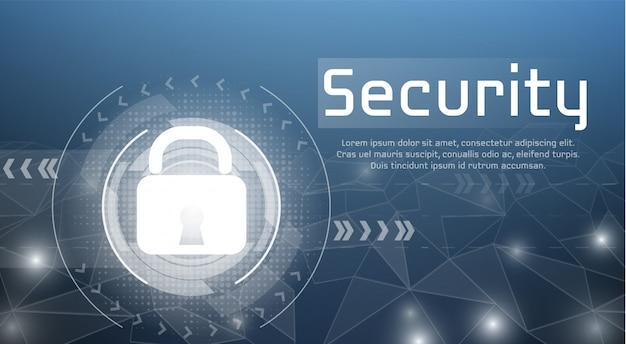 安全なアクセスと許可されたアクセスのためのサイバー暗号化ロックのwebセキュリティの図。 無料ベクター