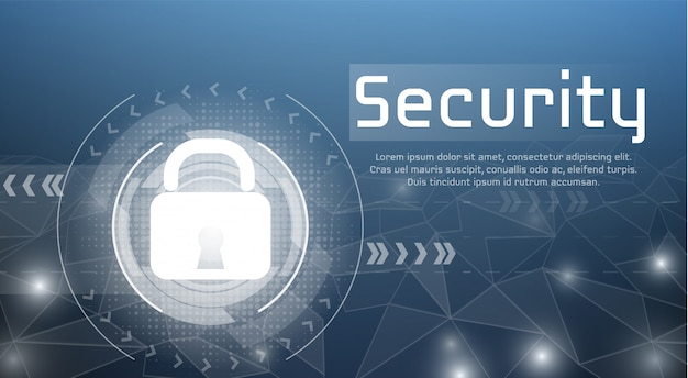Web security illustration of secure access and cyber encryption lock for authorized access. Free Vector