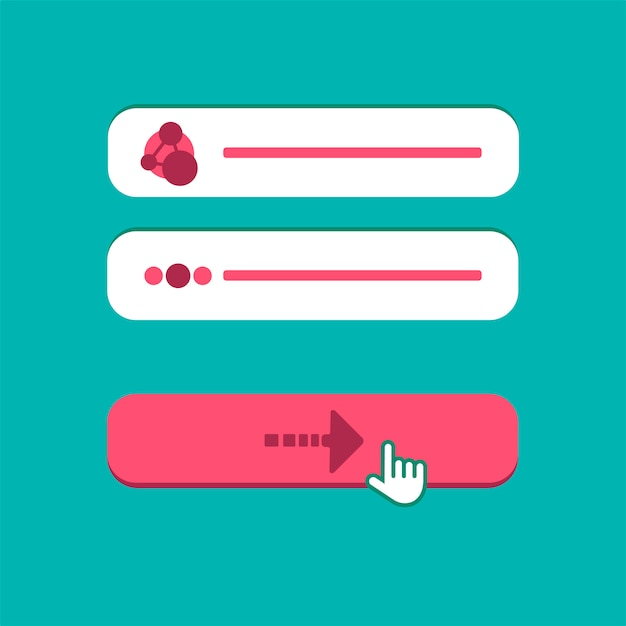 Web template of computer login form Premium Vector