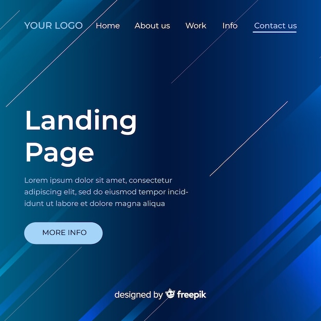 Web template Free Vector