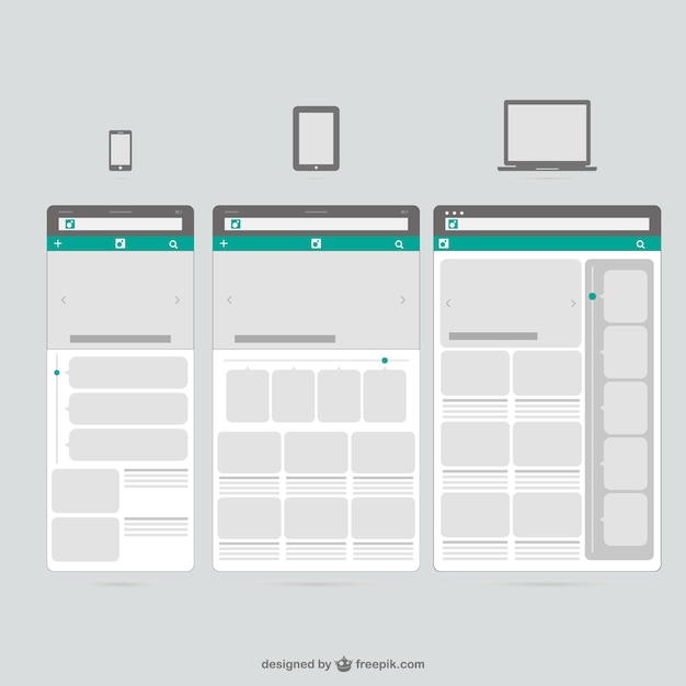 Web templates mobile devices vector free download for Mobile site template free download