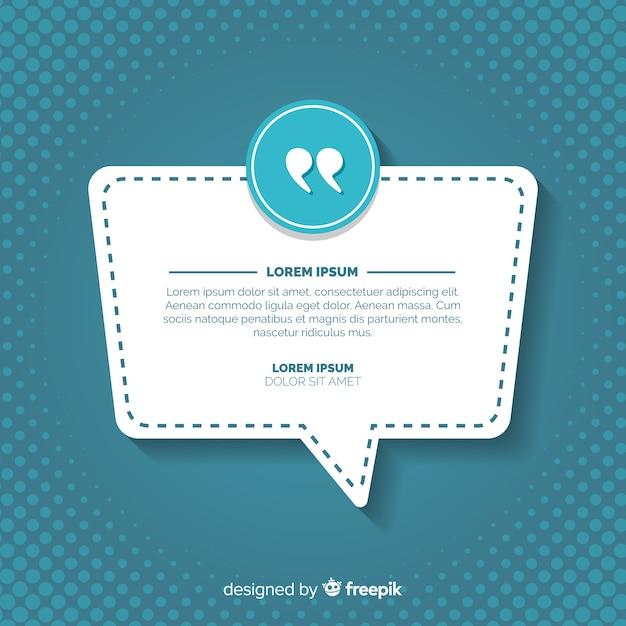 Web testimonial design Free Vector