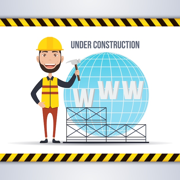Web under construction background Vector | Free Download