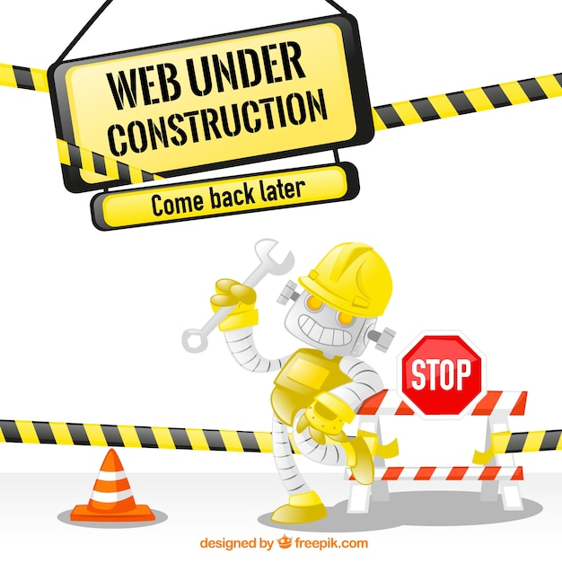 Web under construction Free Vector