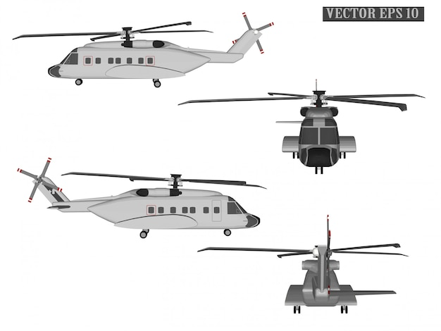Web vector helicopter for soldiers Premium Vector