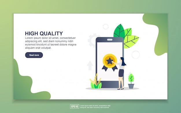 高品質のランディングページテンプレート。 webサイトおよびモバイルwebサイトのwebページデザインのモダンなフラットデザインコンセプト。 Premiumベクター