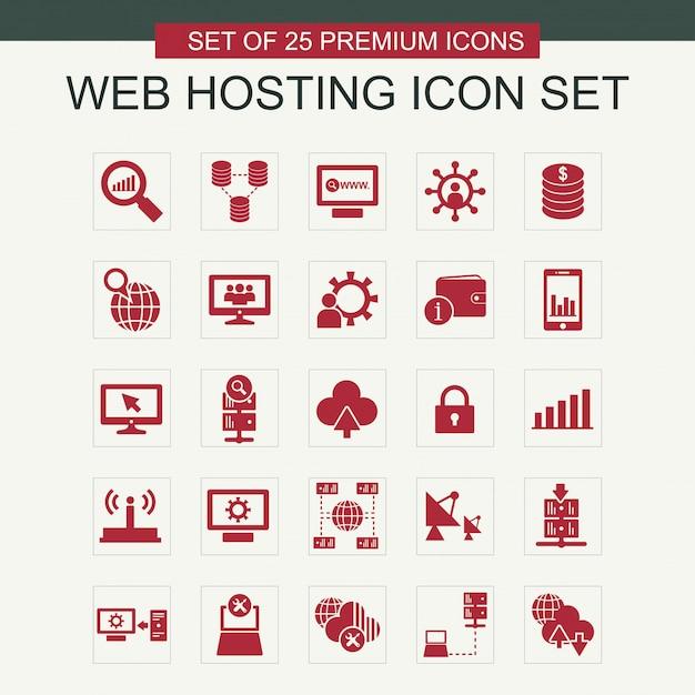 Webホスティングアイコンがベクトルを設定 無料ベクター