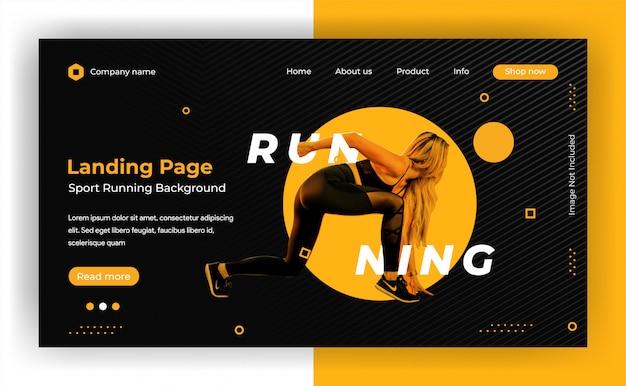 動的webサイトのランディングページの背景 Premiumベクター