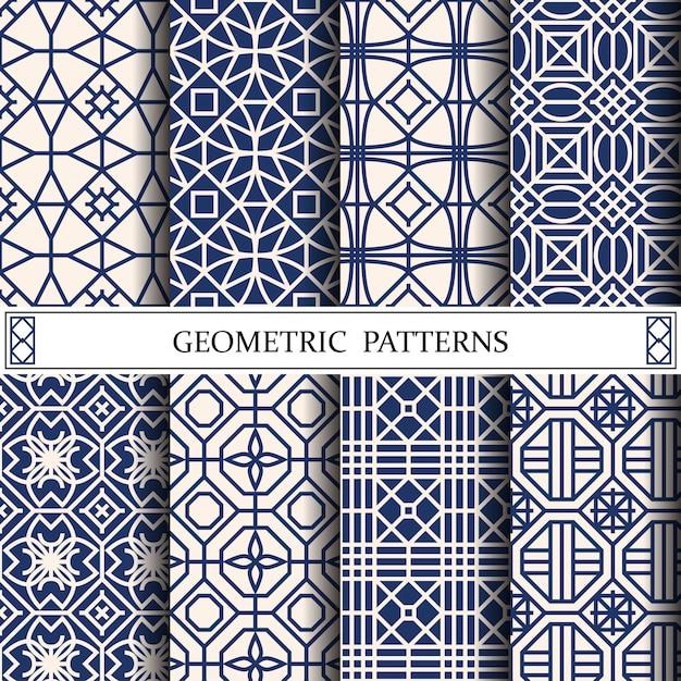 Webページの背景の八角形の幾何学的ベクトルパターン Premiumベクター
