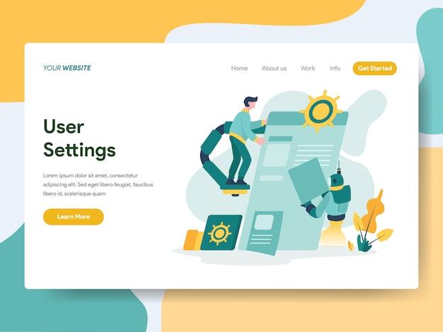 Webサイトページのユーザー設定 Premiumベクター