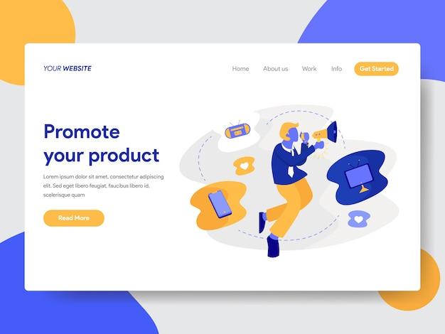 Webページの商品イラストの宣伝 Premiumベクター