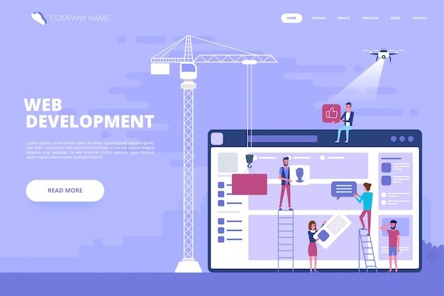 Webデザインとアプリ開発のコンセプト Premiumベクター