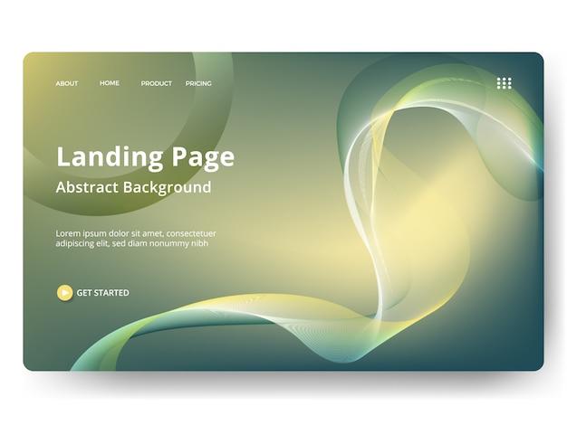 Webランディングページ、バナー、プレゼンテーション用のテンプレート Premiumベクター