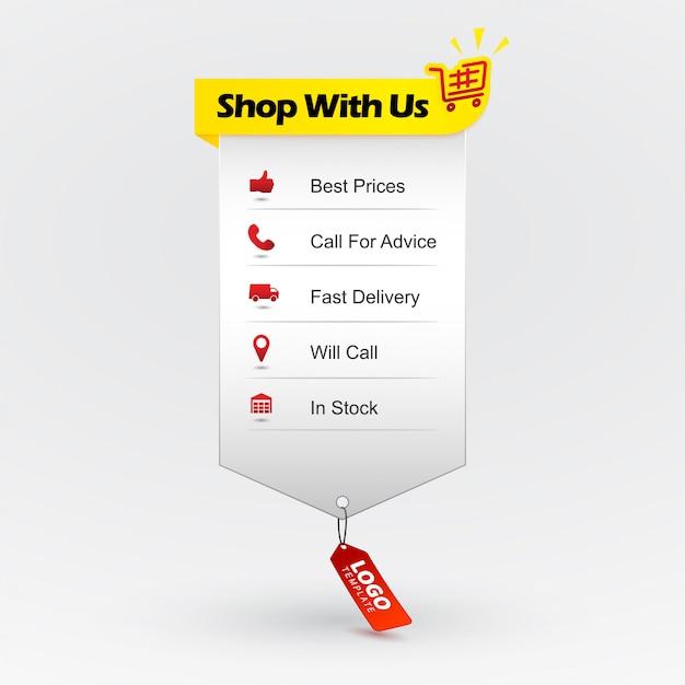 購入のメリット。オンラインショッピング。ショッピングの利点を示すwebデザイン要素。最安値、アドバイスを求めて、短納期で、在庫があります。 Premiumベクター