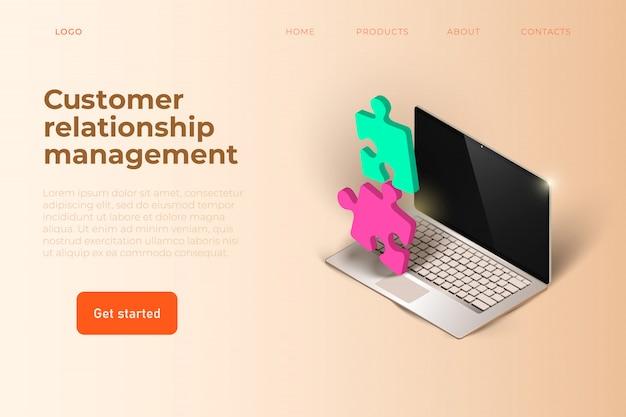 顧客関係管理webテンプレート Premiumベクター