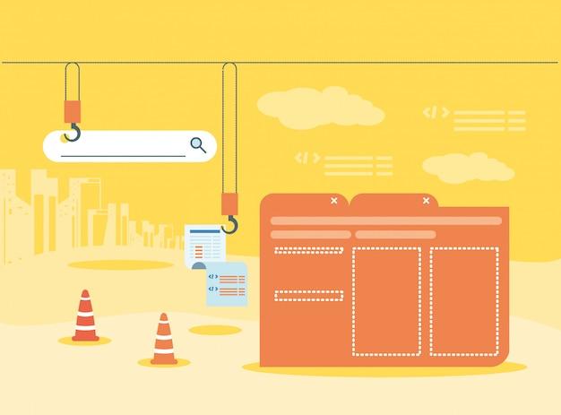 共同管理下のwebページを含むデータフォルダー Premiumベクター