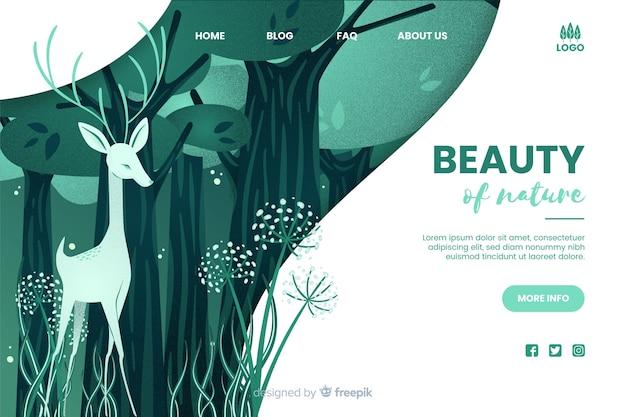 自然の美しさのwebテンプレート 無料ベクター