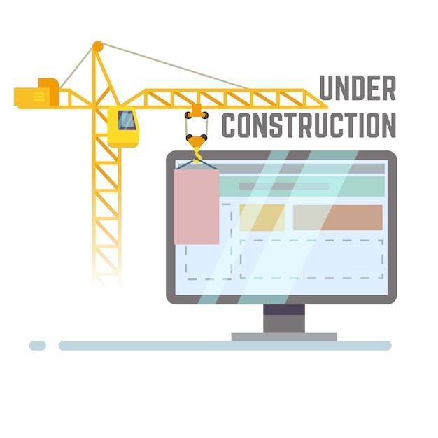 建設中のwebサイト Premiumベクター