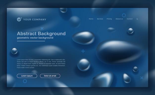 古典的な青のランディングページまたはwebテンプレートデザイン Premiumベクター