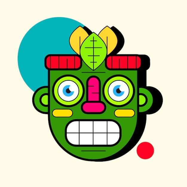 アイドルマスク。 webデザインのためのマスクアイコンのシンプルなイラスト Premiumベクター