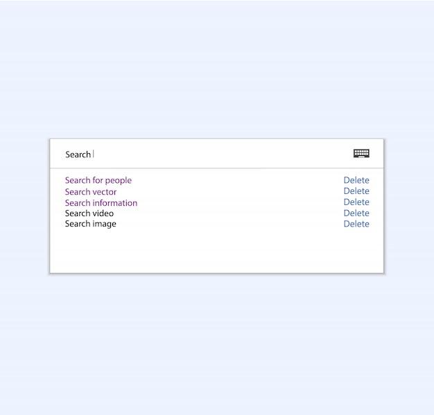 Web情報 Premiumベクター