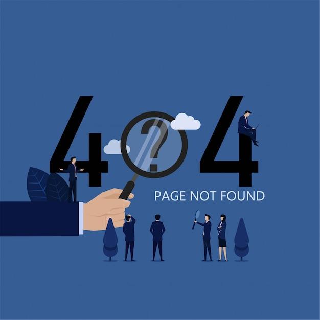 Webページのビジネスチーム検索が見つかりません Premiumベクター