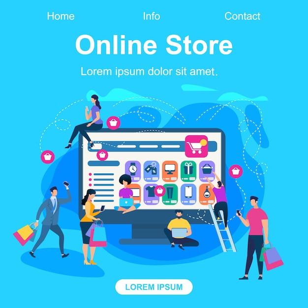 オンラインストアのランディングページwebテンプレート Premiumベクター
