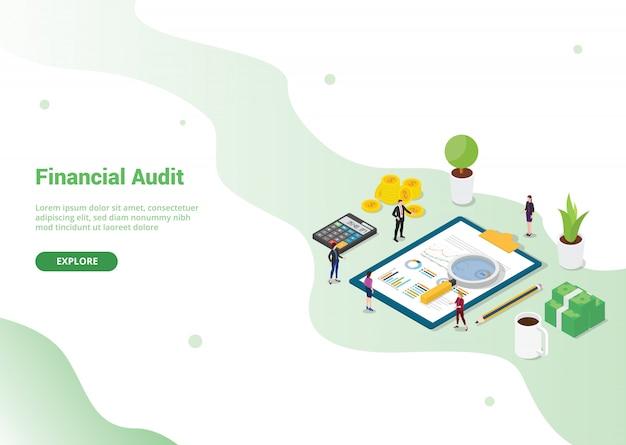Webサイトテンプレートの財務監査テンプレート Premiumベクター