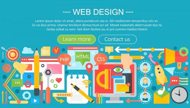 Webデザインのインフォグラフィック Premiumベクター