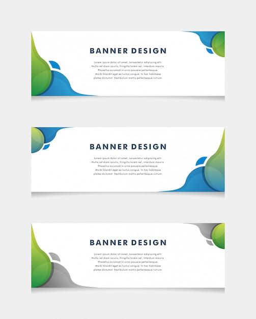 ベクトル抽象的なデザインバナーwebテンプレート。 -ベクトル Premiumベクター