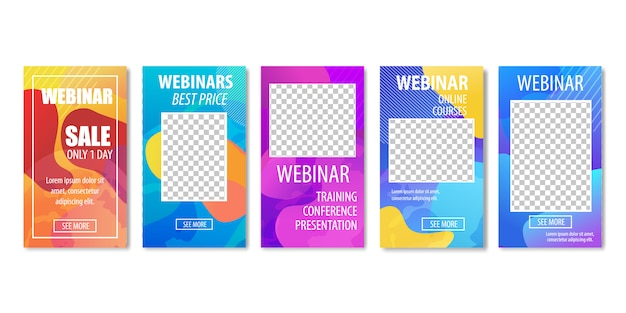 Webinar best price only one day. online courses. Premium Vector
