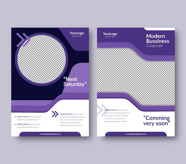Webinar flyers template Free Vector