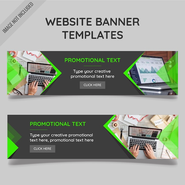 Website banner templates Free Vector