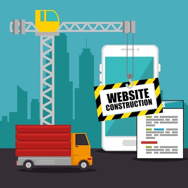 Website under construction background Premium Vector