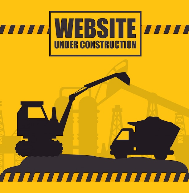 Website under construction design Premium Vector